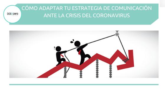 Cómo adaptar tu estrategia de comunicación ante la crisis del coronavirus